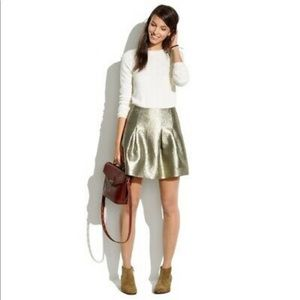 Metallic Gold Mini Skirt